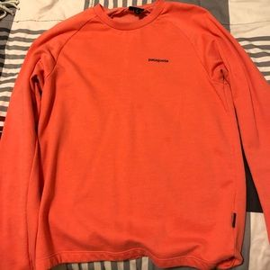 Salmon-Orange Patagonia Long Sleeve Tee